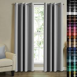 Turquoize 2 Panels Solid Blackout Drapes, Dove Gray, Themal
