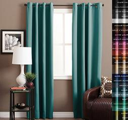 Turquoize Blackout Aqua Curtains for Bedroom/Living Room 100