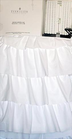 Hillcrest Pair of Window Curtains Panels Set of 2 Solid Whit