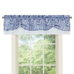 paisley pattern rod pocket curtain window valance