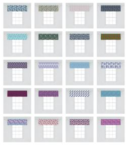 Ambesonne Paisley Pattern Window Valance Curtain for Kitchen