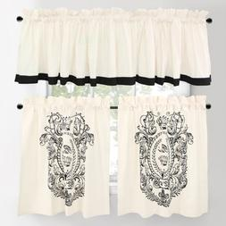 Park B. Smith Paris Postage Tier Curtain Pair- 30'' x 36''