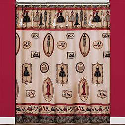 Saturday Knight Fashion Passion Fabric Shower Curtain, Red