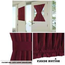 Patio French Door Curtain 2 Panels Window Treatment Room Dar