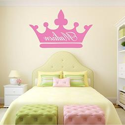 Personalized Wall Decals Girls Princess Crown With Custom Na
