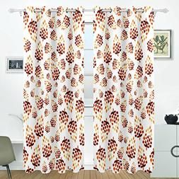 pine cones pattern blackout curtains