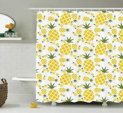 Ambesonne Pineapple Decor Collection, Pineapple Pictogram De