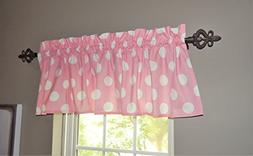 Pink Curtain Valance for Windows - Crabtree Collection - Pin