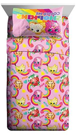 Shopkins Color Pink Twin 3 Piece Sheet Set with D'lish Donut
