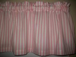 Pink White Stripe baby nursery kitchen bedroom fabric topper