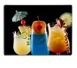 Liili Placemat Natural Rubber Material Tequila Sunrise Blue
