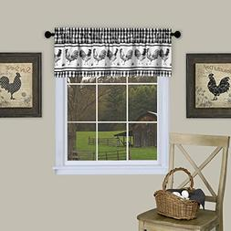 GoodGram Plaid Rooster Window Curtain Valance - Assorted Col