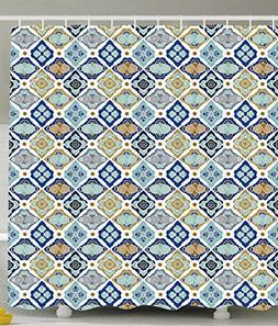 Ambesonne Plaid Shower Curtain Bathroom Decor by, Moroccan T