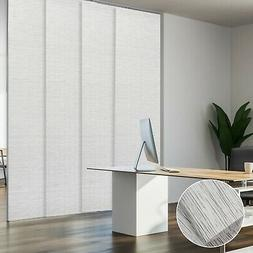 White Pleated Panel Track Blind Sliding Panel Curtain Window