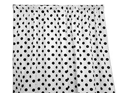 Zen Creative Designs Polka Dots on White Cotton Curtain Pane