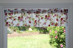 Poly Cotton Vintage Floral Print Kitchen Curtain Valance Win
