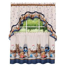 Collections Precious Cats and Dogs Café Kitchen Curtain Tie