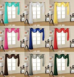 Decotex Premium Quality Sheer Voile Scarf Valance for Home W