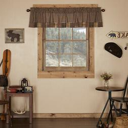 Prescott Block Border 72 Curtain Valance