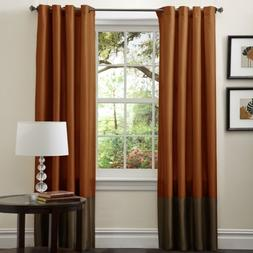 "Prima Brown/Rust Window Curtains, Pair, 54"" x 84"