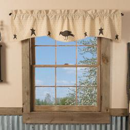 VHC Brands Primitive Kitchen Curtains Pr...