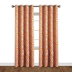 H.Versailtex Printed Blackout Room Darkening Bedroom Curtain