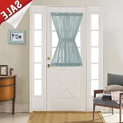 jinchan Privacy French Door Curtains Linen Textured Look Fre