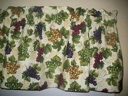 Purple Grapes Wine Tuscany kitchen fabric decor window toppe