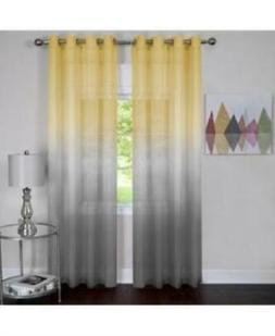 Achim's Rainbow 8 Grommet Single Curtain Panel 52in X 63in Y