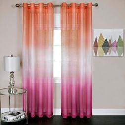 naturally home Rainbows and Sunshine Ombre Sheer Window Curt