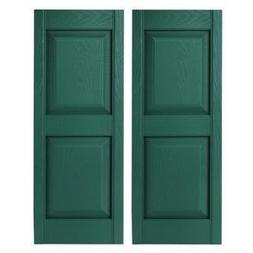 Builders Edge 15 In. X 59 In. Raised Panel Vinyl Exterior Sh