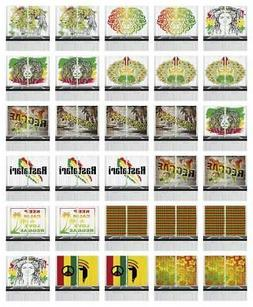 "Rasta Kitchen Curtains 2 Panel Set Window Drapes 55"" X 39"" A"