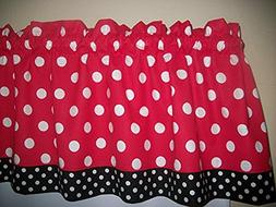 Red Black Polka Dot Mickey Minnie Mouse Retro Kitchen bedroo