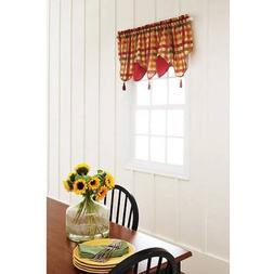 Better Homes and Gardens Red Check Tier, Valance