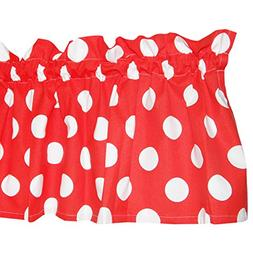 Red Curtain Valance for Windows - Crabtree Collection - Red