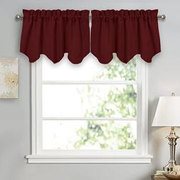 PONY DANCE Home Decor Scalloped Valances for Kitchen Thermal