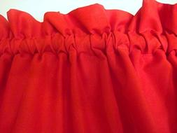 Red Valance Window Treatment Curtain Topper