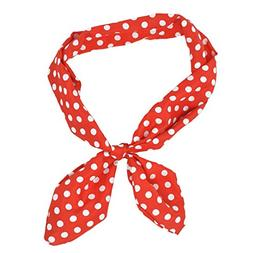 Lux Accessories Red White Polka Dot Tie Headband Head Band