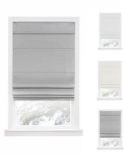 Retractable Cordless Insulated Blackout Roman Window Shades