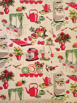 Retro Vintage Kitchen Fifties Curtain Valance Window Treatme