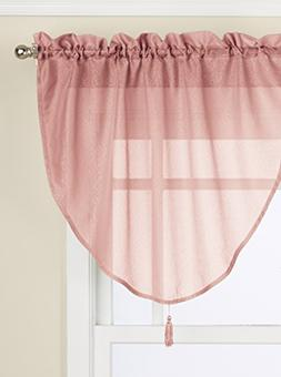 LORRAINE HOME FASHIONS Reverie Ascot Valance, 40 by 25-Inch,