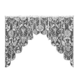 Heritage Lace Rhapsody 72-Inch by 40-Inch White Swag Pair