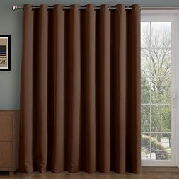 RHF Thermal Insulated Blackout Patio door Curtain Panel, Sli