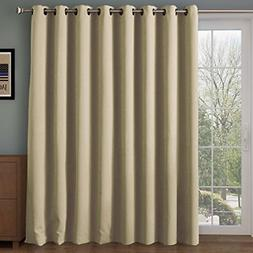 RHF Wide Thermal Blackout Patio Door Curtain Panel, Sliding