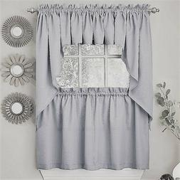 Ribcord Solid Gray color Kitchen Curtain - Brand NEW!