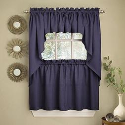 ribcord solid kitchen tier curtain