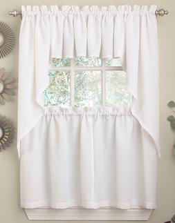 Ribcord Solid White color Kitchen Curtain Collection - Brand