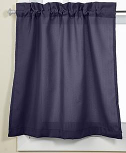 Lorraine Home Fashions Ribcord Tier Curtain Pair, 54-Inch x