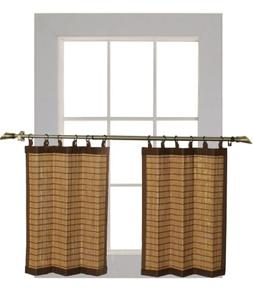 Bamboo Ring Top Curtain BRP07 2-Piece 48-Inch L x 24-Inch H