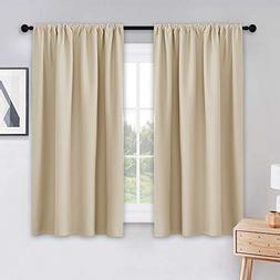 PONY DANCE Beige Kitchen Curtains - Window Treatments Rod Po